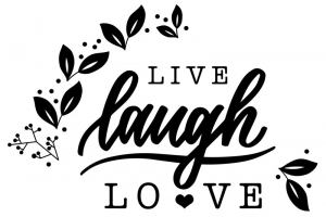 Stempel Live - Laugh - Love 6x4 cm